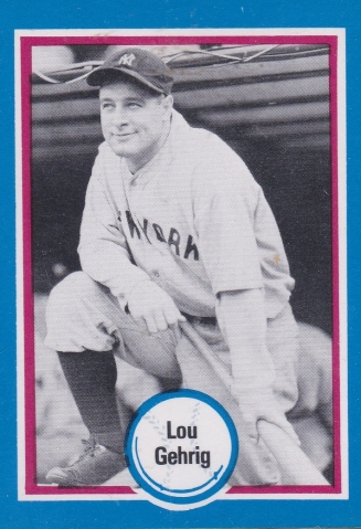 Lou Gehrig Shakeys card